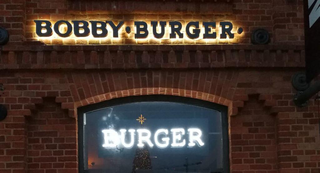 Bobby Burger neon reklamowy