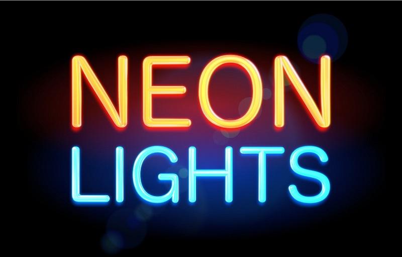 Neonowy napis reklamowy na zamówienie
